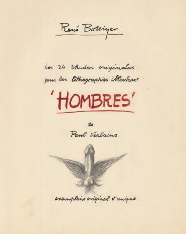 """Les 24 études originales pour les lithographies illustrant """"Hombres"""" de Paul Verlaine"""