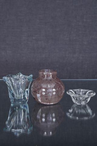 2 vases + 1 cendrier