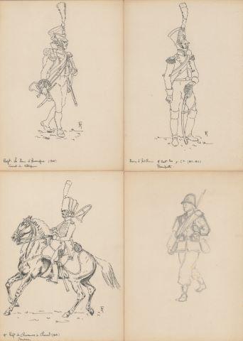 14 dessins militaria