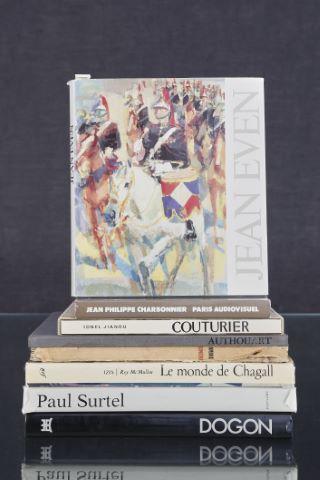 Ensemble de 7 ouvrages sur les Beaux-Arts dont Chagall, Couturier, Authouart...