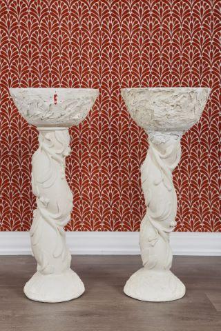 Paire de colonnes basses