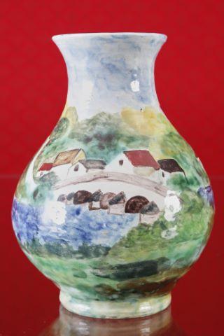 Vase piriforme à col évasé