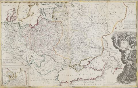 Moscou, Pologne, Tartarie et Mer noire