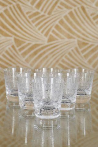 6 verres à whisky modèle Rohan