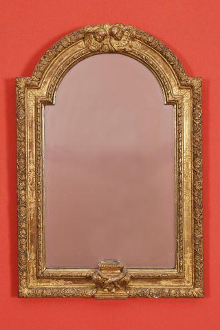 Miroir à fronton arqué
