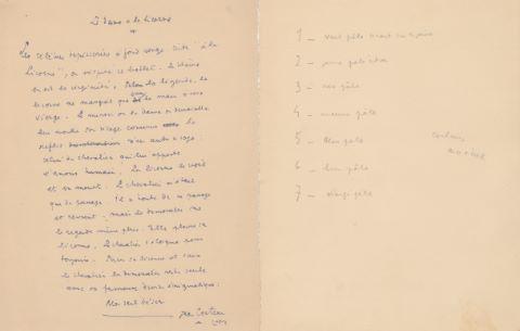 """La Dame à la Licorne, """"Originale Briefe"""""""