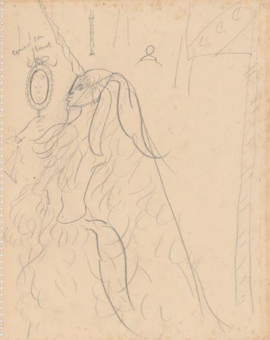 La Dame à la Licorne, étude recto-verso