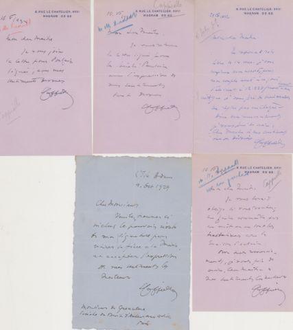 Ensemble de lettres de l'artiste