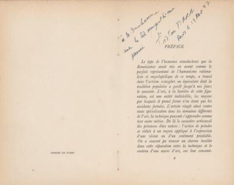 Henri Rousseau Le Douanier - Une Visite à l'exposition de 1889, avec une préface de Tristan Tzara