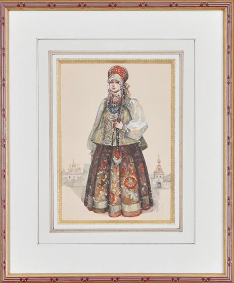 Femmes en costumes traditionnels [3 œuvres]
